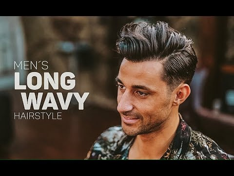 Long Wavy Haircut Men S Medium Length Hairstyle Inspiration Youtube