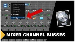 Mixer Bus Channels in Logic Pro X (Tutorial)