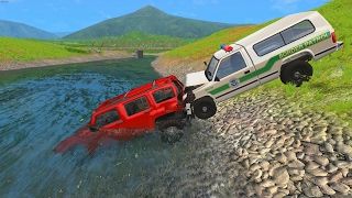 Police Chase Takedowns 6  - BeamNG.Drive Crashes
