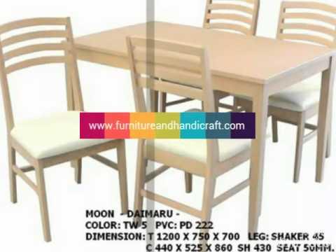 เฟอร์นิเจอร์ไม้ยาง เก๋ๆ โต๊ะ #เก้าอี้ #เสากั้น