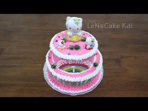 Birthday Cake Easy Hello Kitty Character By Lenscake Kdi