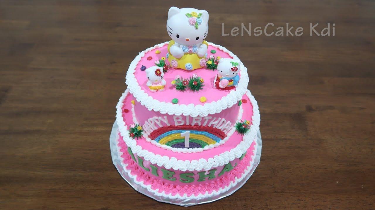 Repeat Kue Ultah Mudah Hello Kitty Karakter By Lenscake Kdi