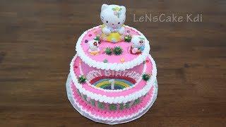 Kue Ultah Mudah Hello Kitty Karakter by LeNsCake Kdi
