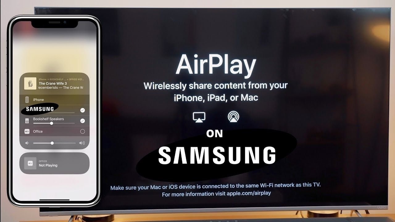 How To Use Apple Airplay On Samsung Tv, How To Mirror Iphone Samsung Tv Free Without Apple Id