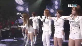 T-ARA Sexy Love @SBS Inkigayo 인기가요 20121007