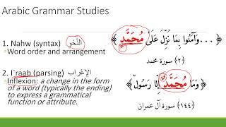 Arabic Grammar: Nahw and Iraab
