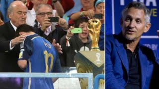 Gary Lineker Brilliantly Dęfends Lionel Messi About Not Winning The World Cup