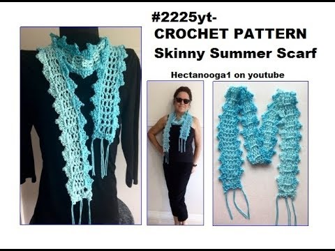 Free Crochet Pattern Skinny Summer Scarf Crochet For Summer