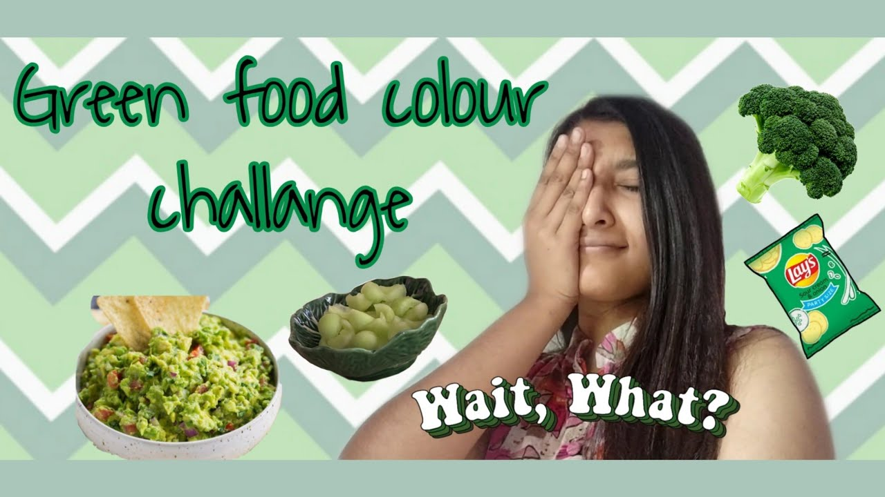 I only ate GREEN food for 24 HOURS Challange💚😱|| WORST or FAIL??