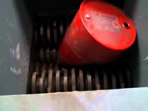 Shredder for drums - trituratore per fusti metallo. www.tritotutto.com
