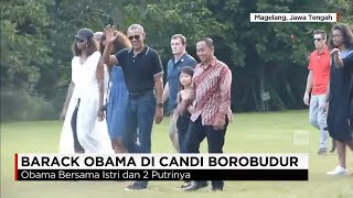 Dikawal Ketat, Obama Berkeliling di Candi Borobudur - Obama Mudik ke Yogyakarta
