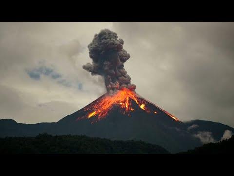 Ecuador's 'Troublemaker' volcano sends lava flying in fiery explosion
