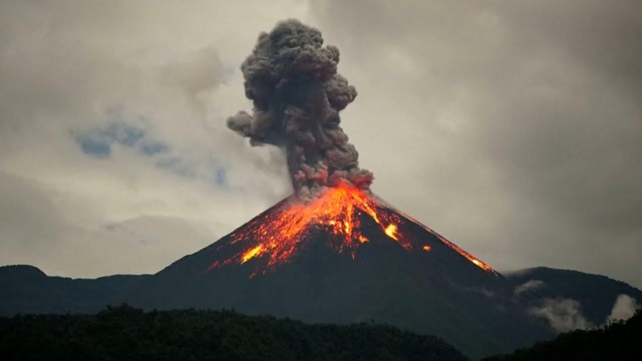 Ecuador's 'Troublemaker' volcano sends lava flying in ...
