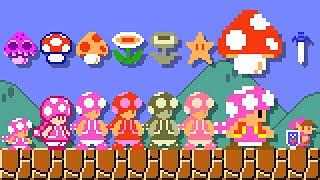 Super Mario Maker 2 - All SMB1 Power-Ups (Toadette). ᴴᴰ