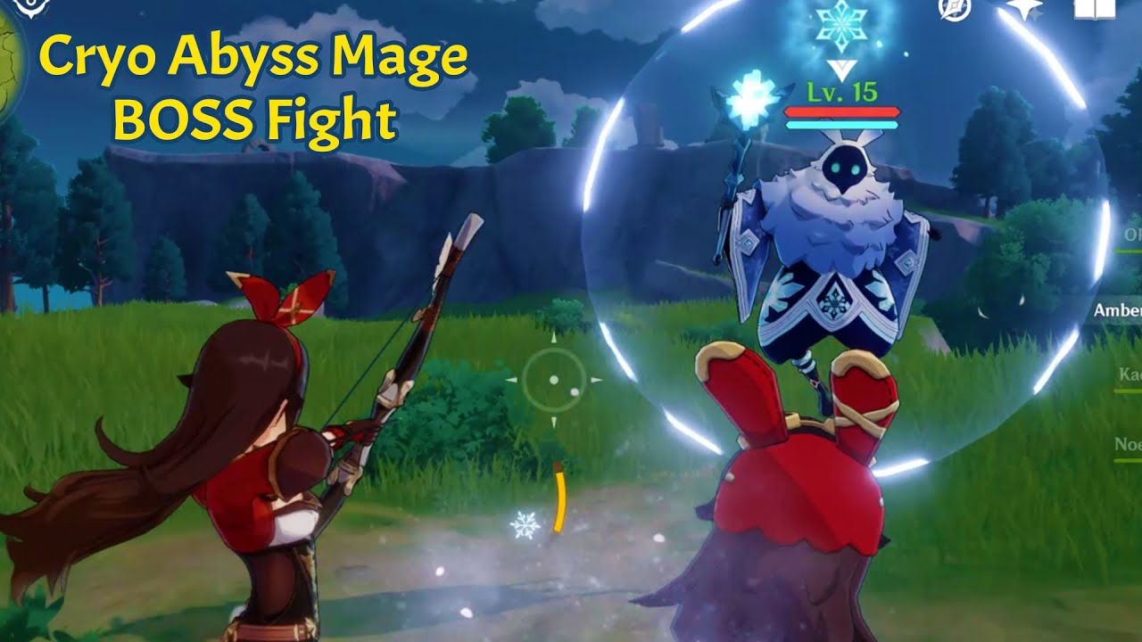 Genshin Impace Cryo Abyss Mage Boss Fight Youtube