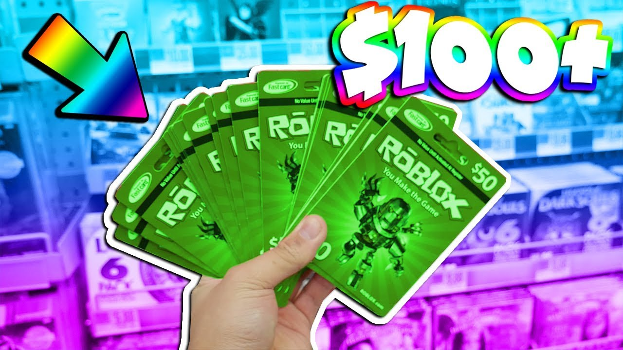 Buying 100 Worth Of Roblox Gift Cards Choose What I Buy Youtube