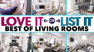 Love It or List It Best Living Rooms Transformation