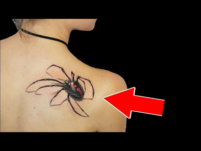10 Удивительных 3d татуировок