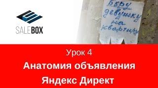 1.04 Анатомія оголошення Яндекс Директ. Покрокова інструкція Яндекс Директ від SaleBox.