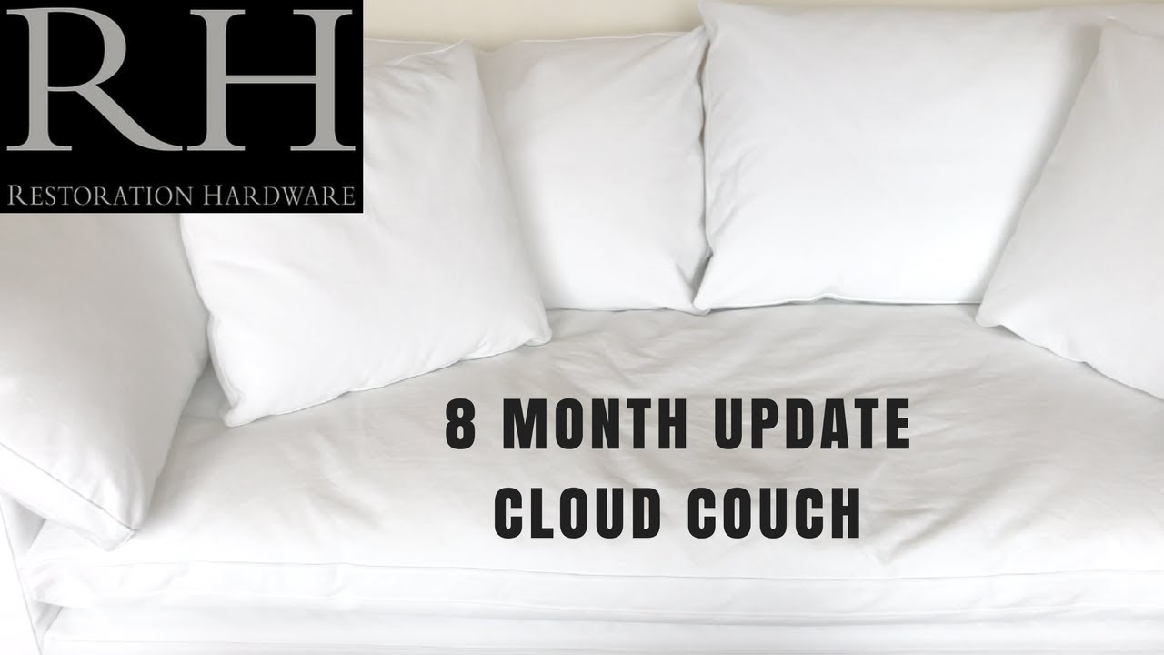 restoration hardware sectional sofa linen guatemala cama 8 month update cloud couch youtube