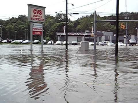 Hurricane Irene Pompton Lakes Dam Floods Hamburg Tpke Video #1