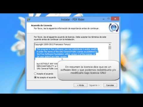 Instalacion pdfrider 0.6.1 (unir pdf)  Software Libre