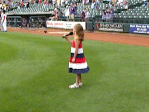 Kaylee Turner (age 6) - National Anthem at Round Rock Express