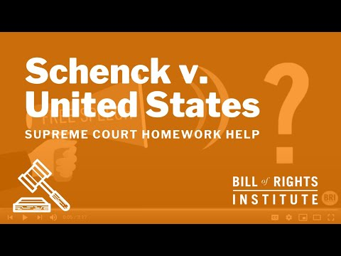 Schenck v. United States | Homework Help from the Bill of Rights Institute