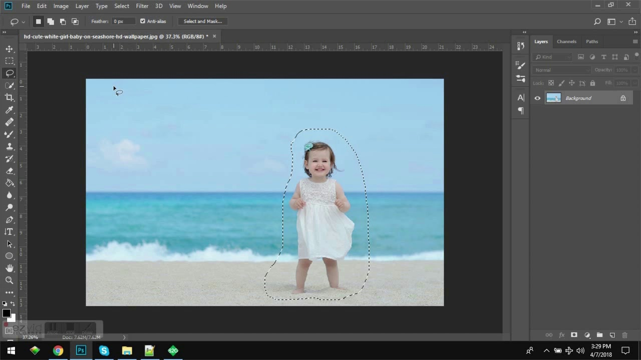 Content Aware How To Remove Objects In Photoshop Cc 2018 Youtube