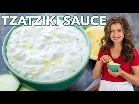 Easy Greek Tzatziki Sauce (Cucumber Yogurt Dip)