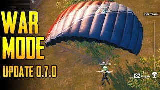 FIRST TIME PLAYING WAR MODE | PUBG Mobile Global Update Version 0.7.0
