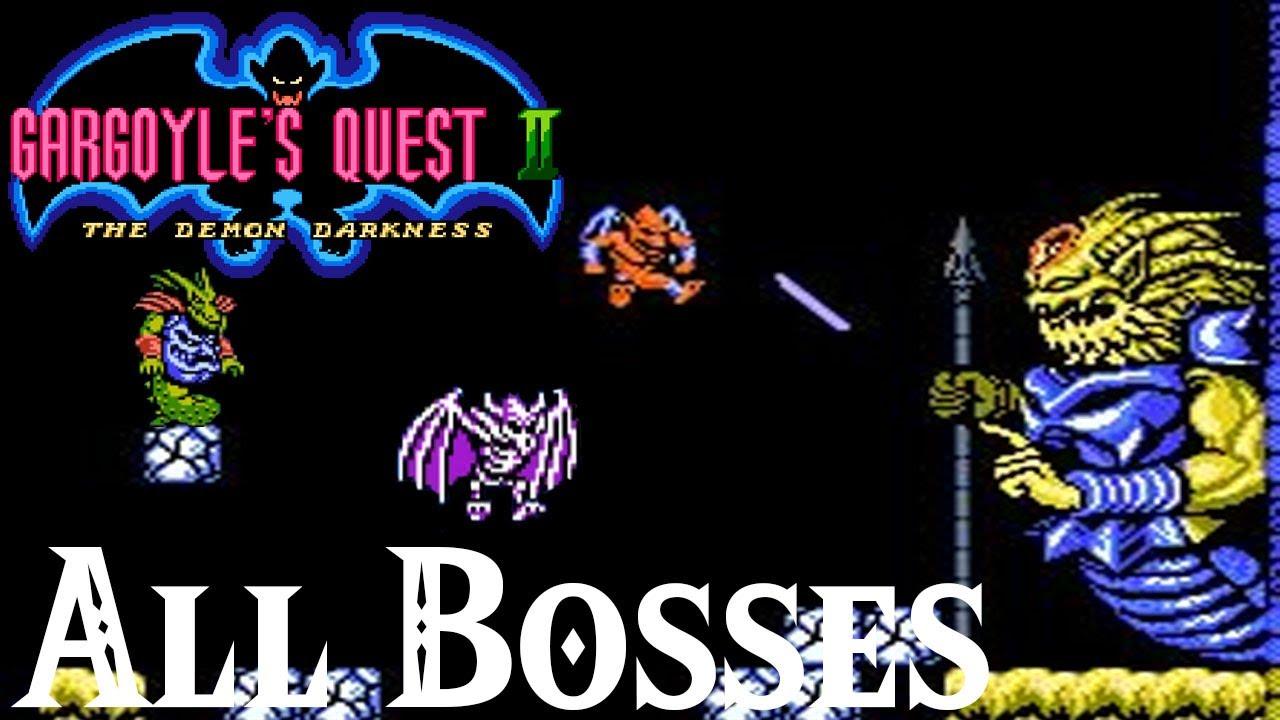 Gargoyle S Quest 2 The Demon Darkness Nes All Bosses Youtube