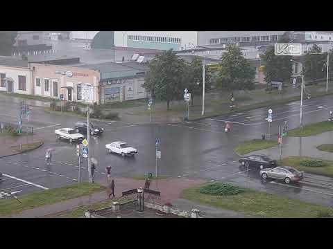 Кобрин. Велосипедисты 5. Дзержинского - 700 лет Кобрина. 10.07.2019