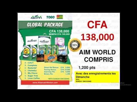 Alliance In Motion AIM Global, plan markéting whatsapp  +237696465134