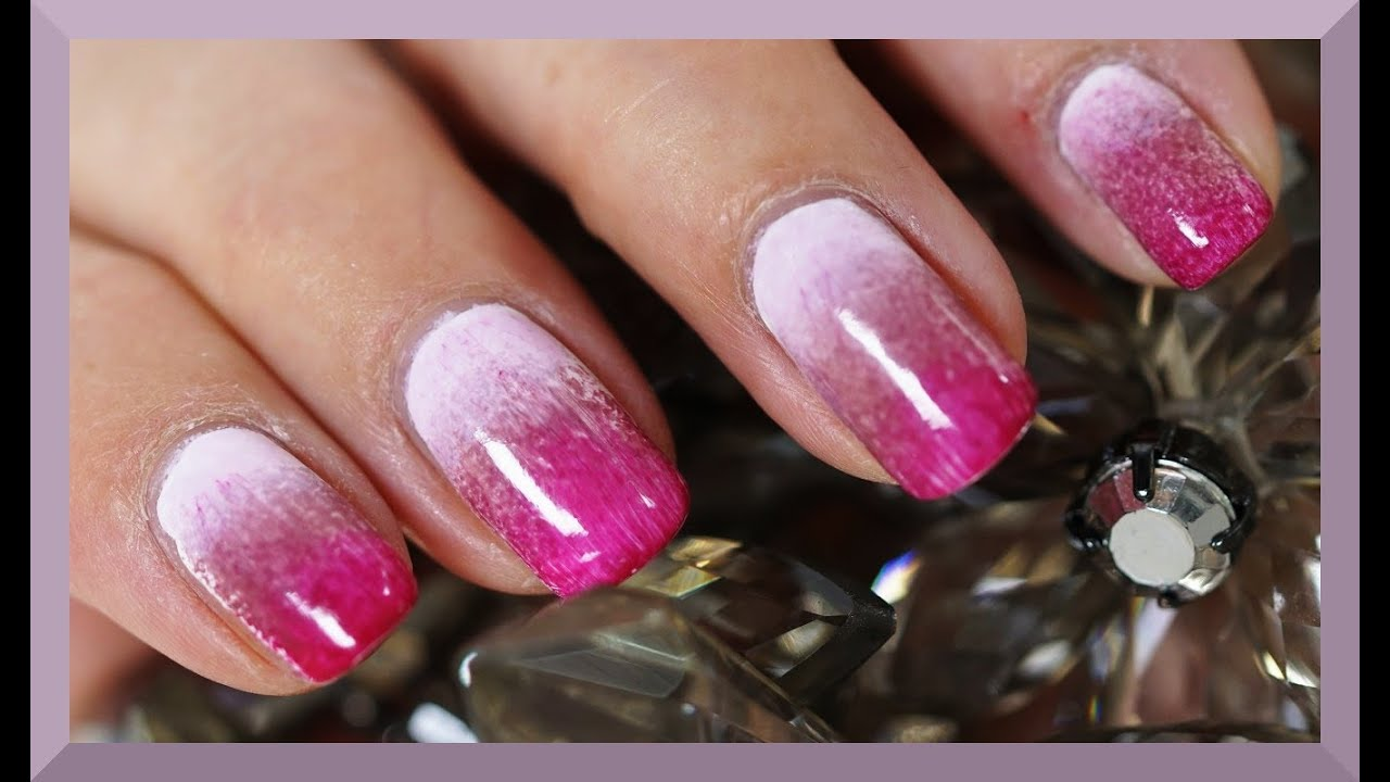 OMBRE NAILS SELBER MACHEN BY KATISWELTTV I TUTORIAL Nu00e4gel DIY DEUTSCH - YouTube