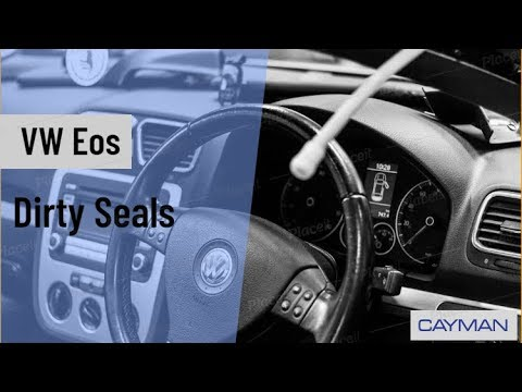 How To Clean Your Convertible Roof Seals On Your Vw Eos Youtube