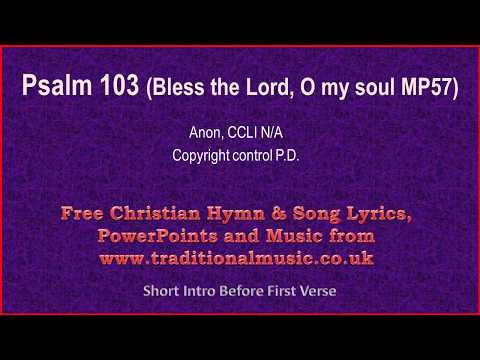 bless the lord o my soul lyrics pdf