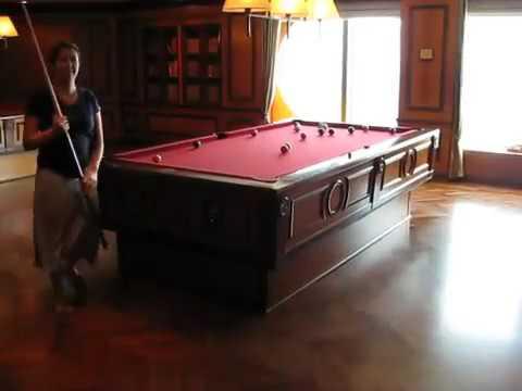 Selfleveling Pool Table On Cruise Ship YouTube - Cruise ship pool table