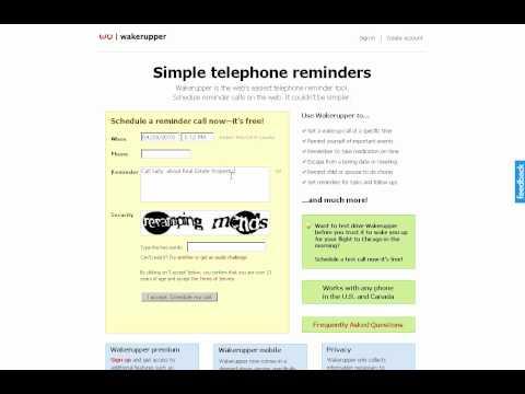 Wakerupper.com - Voice Message Reminder Service