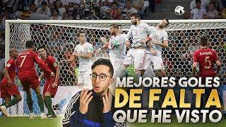 TOP 8 GOLES DE FALTAS QUE HE VISTO *GOLAZOS*