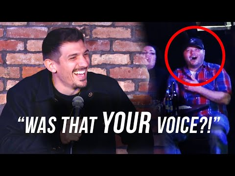 Man with the HIGHEST voice ever gets roasted | Andrew Schulz | Stand Up Comedy