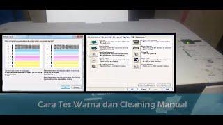 Cara mudah Cek warna dan Cleaning Manual Canon MP258   MP287 Menggunakan Tombol Panel Printer