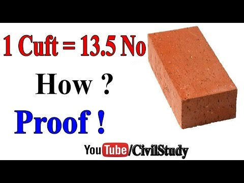 How Many Bricks In One Cubic Feet - Explained In Details - Urdu/Hindi