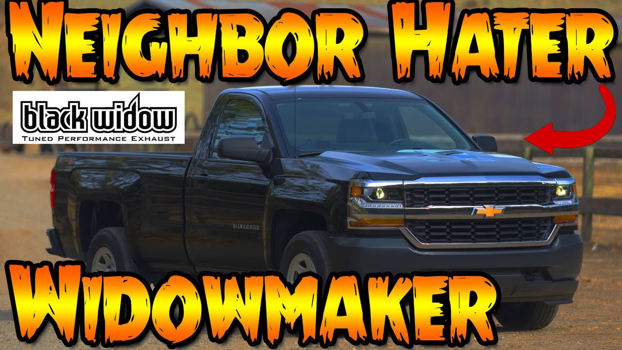 2017 Chevy Silverado Blackwidow Widowmaker Exhaust Youtube