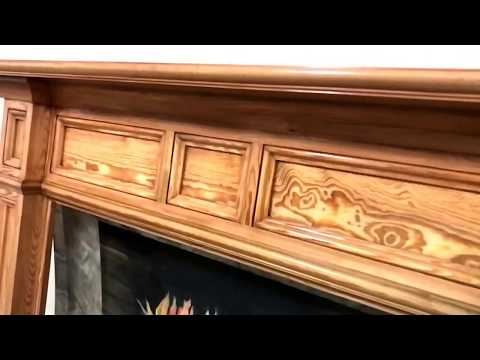 Antique Heart Pine Fontana/New Jersey Style Mantel