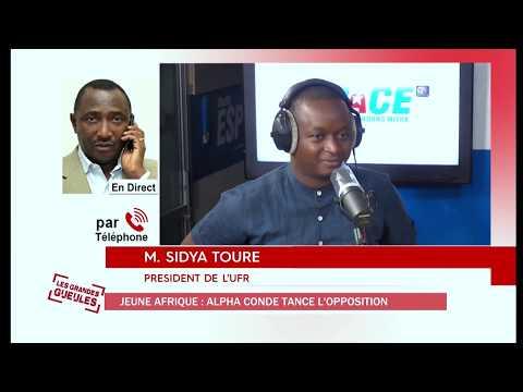 ALPHA CONDE REPRIMANDE L'OPPOSITION DANS UNE TELE INTERVIEW ACCORDÉ AU JA - SIDYA TOURE