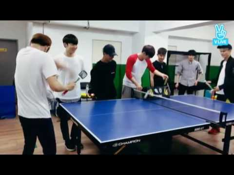 [ENG][160528] MADTOWN (‪매드타운‬) Style of playing ping pong