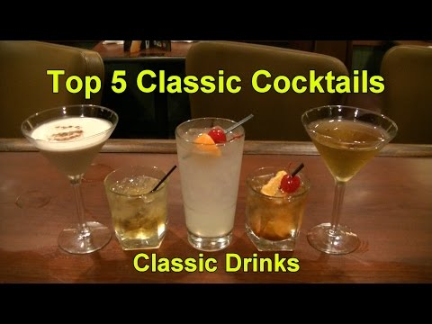 Top 5 Classic Cocktails  Top Five Classic Drinks Beverages Cocktail