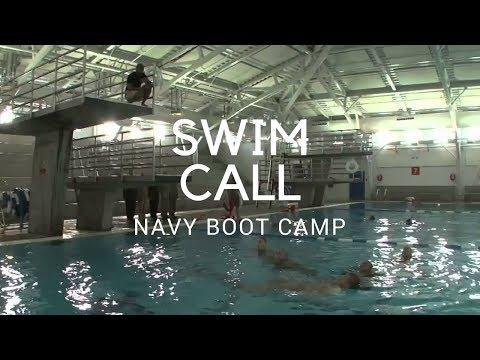 Swim Call At Navy Boot Camp