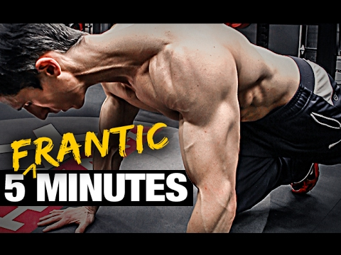 5 Minute Home Fat Burning Workout (FRANTIC FAT LOSS!)